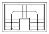 schodiště 2x1/4 lomené s podestami