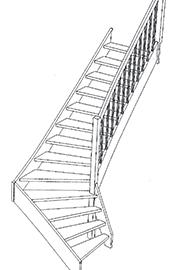 schodiště 1/4 lomené